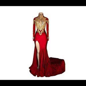 Dresses & Skirts - Mermaid Long Sleeve Evening Gown